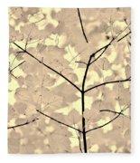 Leaves Fade To Beige Melody Fleece Blanket