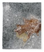 Leaves In Ice Fleece Blanket