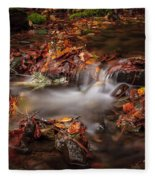 Leaves In The Creek Fleece Blanket