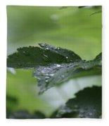 Leaves In The Rain Fleece Blanket