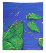Leaves In The Wind Fleece Blanket