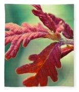 Leaves Of Red Fleece Blanket