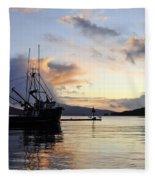Leaving Safe Harbor Fleece Blanket