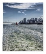 Leaving San Francisco Fleece Blanket