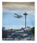 Leaving Seattle Fleece Blanket