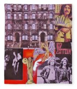 Led Zeppelin  Collage Number Two Fleece Blanket
