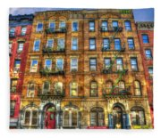 Led Zeppelin Physical Graffiti Building In Color Fleece Blanket