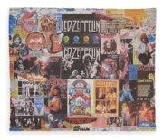 Led Zeppelin Years Collage Fleece Blanket