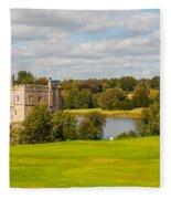 Leeds Castle Golf 2 Fleece Blanket