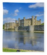 Leeds Castle Moat 2 Fleece Blanket