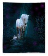 Left Alone Fleece Blanket