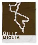 Legendary Races - 1927 Mille Miglia Fleece Blanket