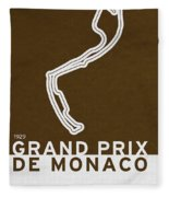 Legendary Races - 1929 Grand Prix De Monaco Fleece Blanket