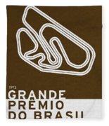 Legendary Races - 1973 Grande Premio Do Brasil Fleece Blanket