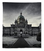 Legislature Building British Columbia Victoria Fleece Blanket