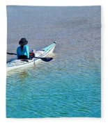 Leisure On The Lake Fleece Blanket