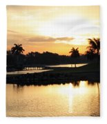 Lely Sunrise Over The Flamingo Fleece Blanket