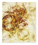 Lemon Bubbles Fleece Blanket