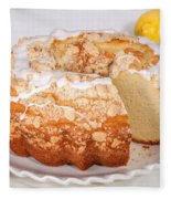 Lemon Bundtcake With Wedge Cut Out Fleece Blanket