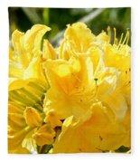 Lemon Drop Azalea Fleece Blanket