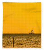 Lemon Fisher Fleece Blanket