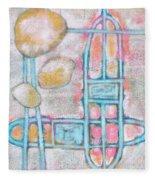 Lemon Rocks Paperclips And Water Trails Fleece Blanket
