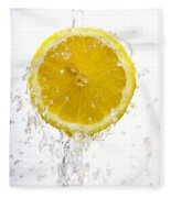 Lemon Splash Fleece Blanket