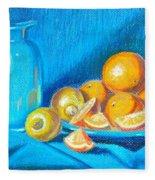 Lemons And Oranges Fleece Blanket