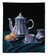 Lemons And Tea Fleece Blanket