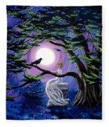Lenore By A Cypress Tree Fleece Blanket
