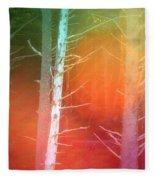 Lens Flare In The Forest Fleece Blanket
