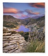 Lenticular Clouds At Canales Lake Fleece Blanket