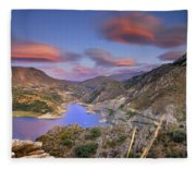 Lenticular Clouds At The Red Sunset Fleece Blanket