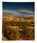 Lenticular Clouds Near Tesuque Pueblo Nm Fleece Blanket