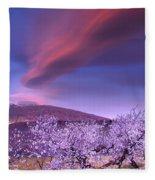 Lenticular Clouds Over Sierra Nevada Fleece Blanket
