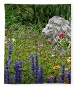 Leo In The Garden Fleece Blanket