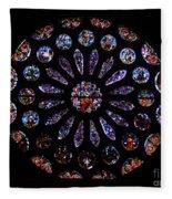 Leon Spain Cathedral Rosette Fleece Blanket
