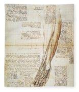 Leonardo: Anatomy, 1510 Fleece Blanket