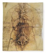 Leonardo: Anatomy, C1510 Fleece Blanket