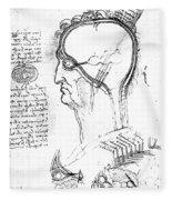 Leonardo: Brain, C1490 Fleece Blanket