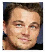 Leonardo Dicaprio Portrait Fleece Blanket