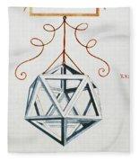 Leonardo Icosahedron Fleece Blanket