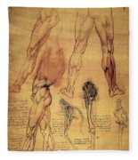 Leonardo: Legs, C1508 Fleece Blanket