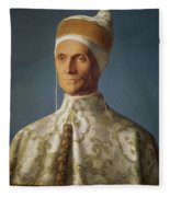 Leonardo Loredan 1436-1521 Doge Of Venice From 1501-21, C.1501 Oil On Panel Fleece Blanket