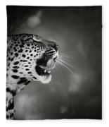 Leopard Portrait Fleece Blanket