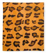 Leopard Print Hand Painted Leopard Print  Fleece Blanket
