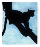 Leopard - Silhouette Fleece Blanket
