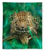 Leopard - Spirit Of Empowerment Fleece Blanket