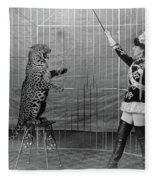 Leopard Trainer, C1906 Fleece Blanket