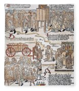 Lepers, 1493 Fleece Blanket